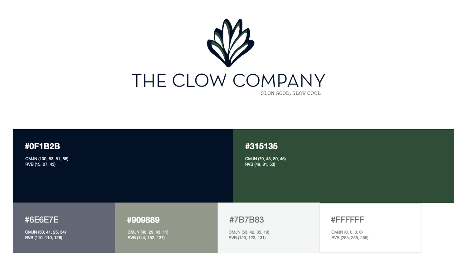 Charte couleur logo the clow compagny