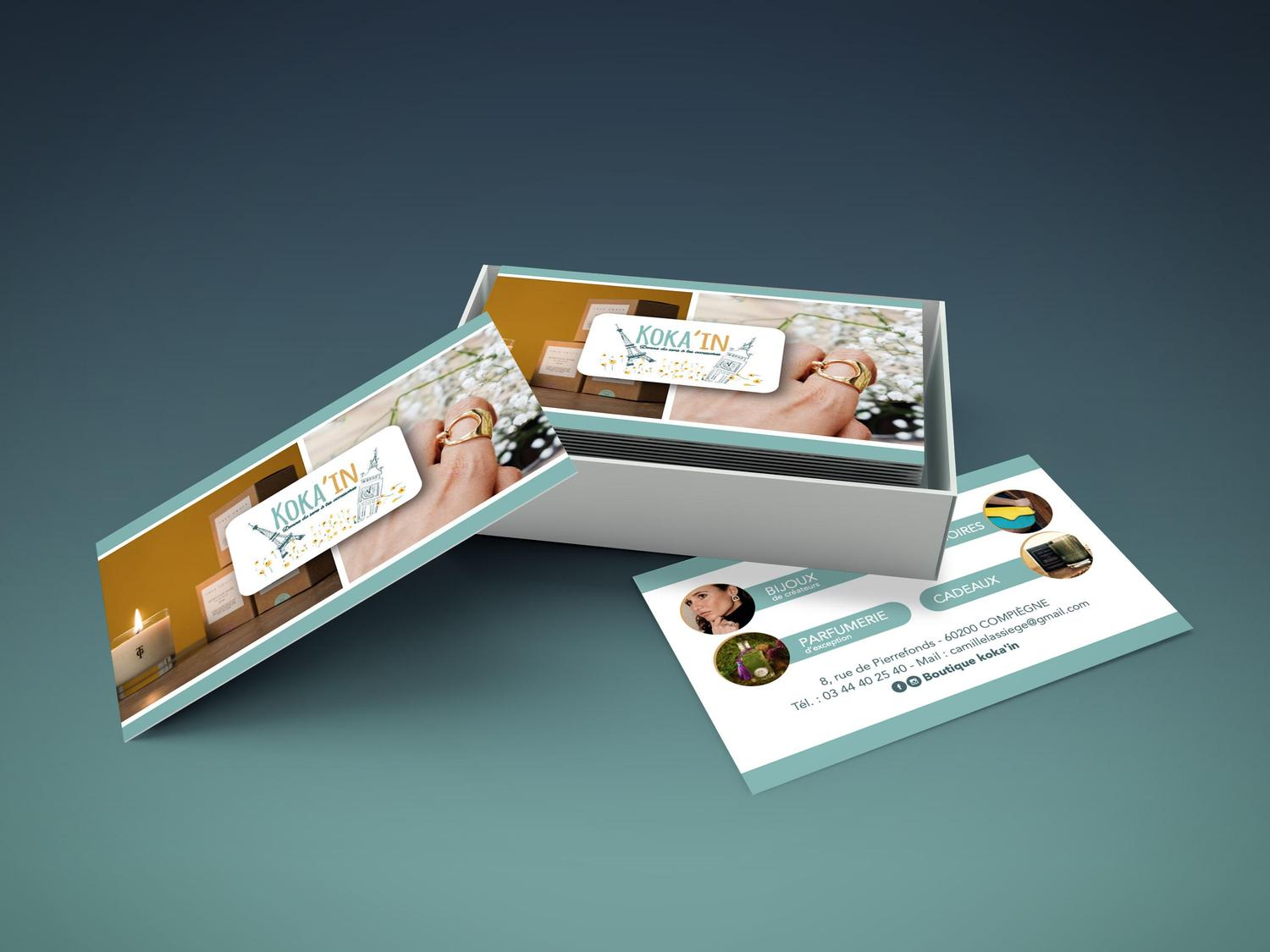 Cartes de visite en finition MAT SOFT TOUCH