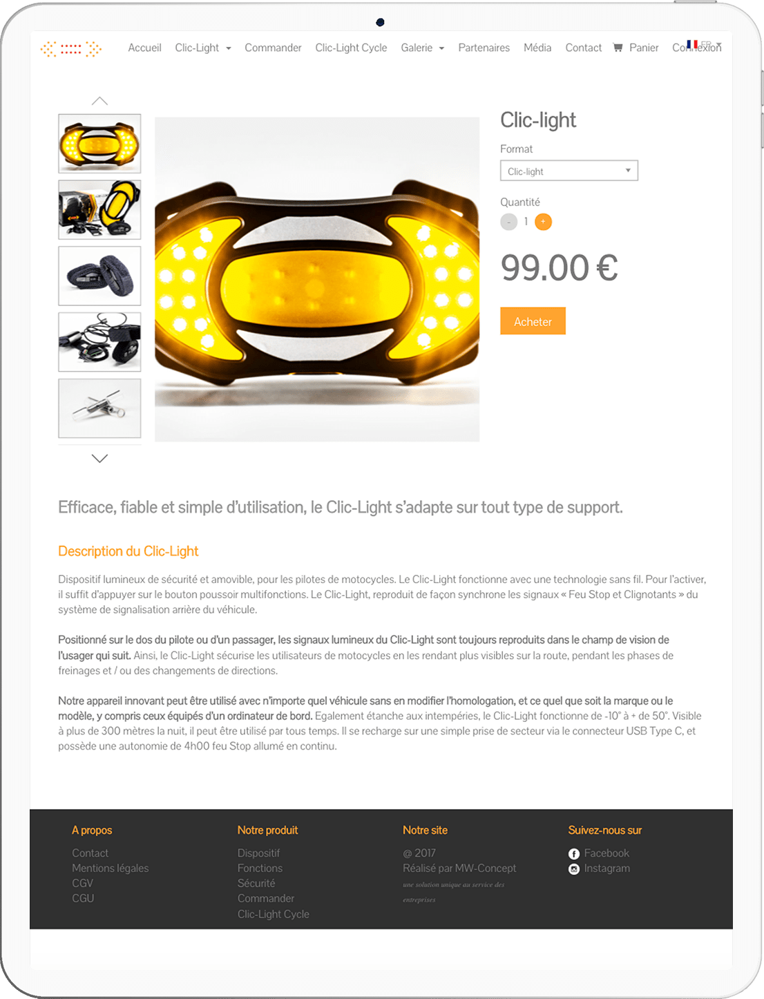 site e-commerce roadlight